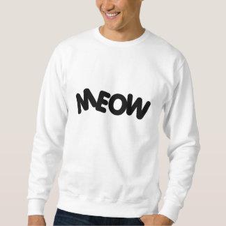 Camiseta del maullido sudaderas encapuchadas
