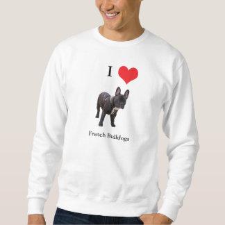 Camiseta del mesn del corazón del amor del dogo sudadera con capucha