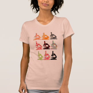 Camiseta del microscopio de la biología camisas