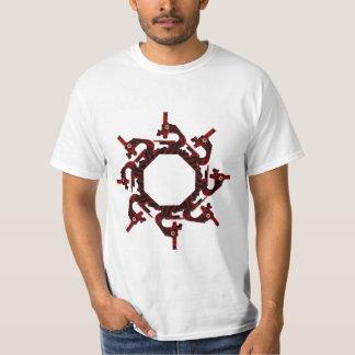 Camiseta del microscopio de la biología playera