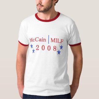 camiseta del milf del mccain playeras