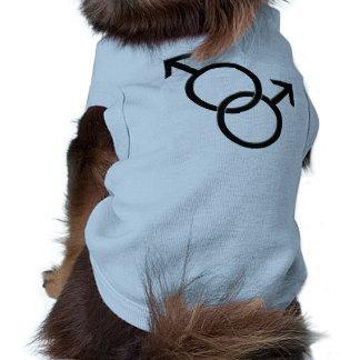 Camiseta del mismo sexo del perro del amor LGBT de Camisa De Perro