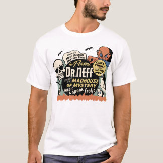"Camiseta del misterio del vintage ""manicomio"""