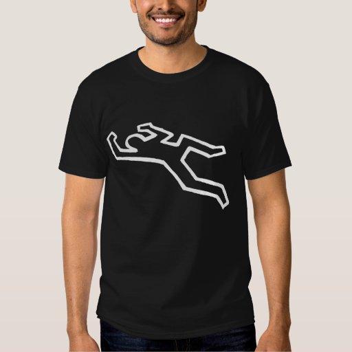 Camiseta del misterioso asesinato del esquema del remera