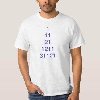 Camiseta del modelo; 1, 11, 21, 1211 remeras