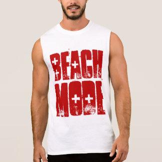 Camiseta del modo de la playa remera sin mangas