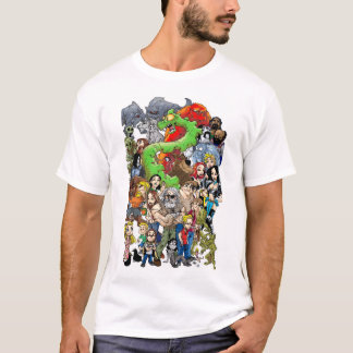 Camiseta del molde del Palo de golf-halla