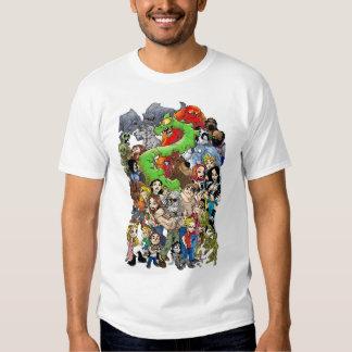 Camiseta del molde del Palo de golf-halla Playera
