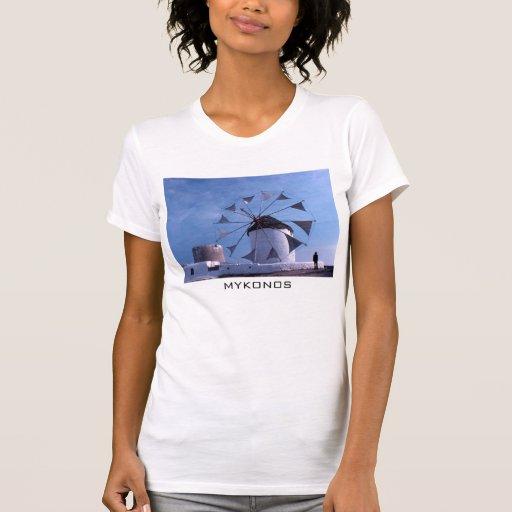 Camiseta del molino de viento de Mykonos