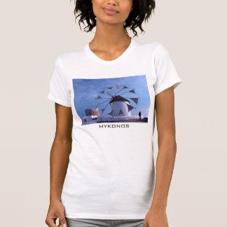 Camiseta del molino de viento de Mykonos Poleras