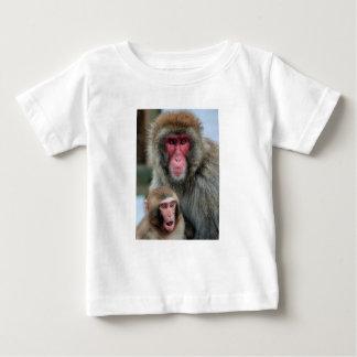 Camiseta del mono de la madre y del bebé playeras