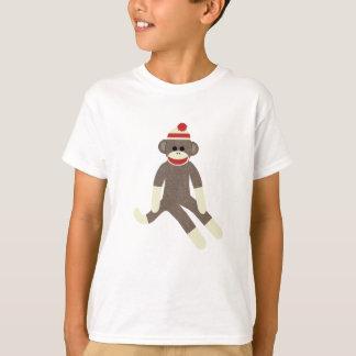Camiseta del mono del calcetín poleras