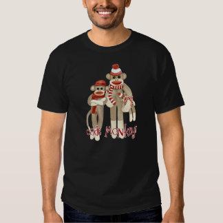 Camiseta del mono del código del mono del calcetín poleras