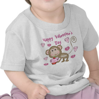 Camiseta del mono del el día de San Valentín del b