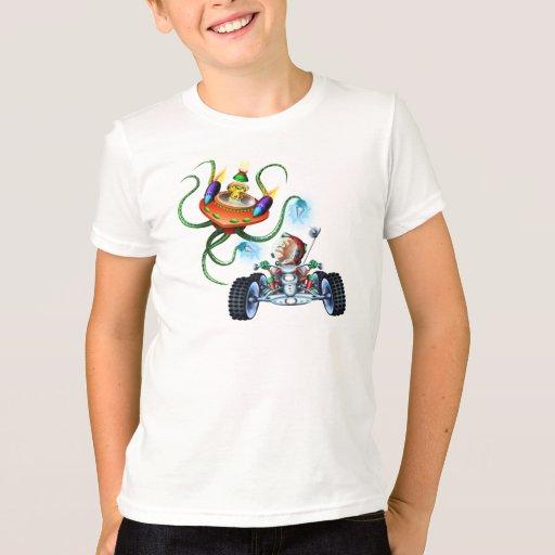Camiseta del mono del espacio camisas