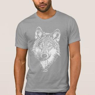 Camiseta del monocromo del lobo playera