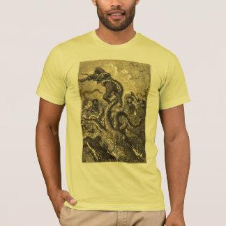 Camiseta del monstruo de mar del calamar gigante