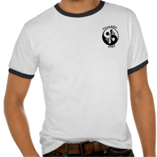 Camiseta del motorista de la montaña de Yin Yang