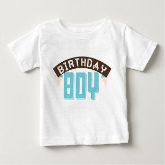 Camiseta del muchacho de Birthdy Playeras