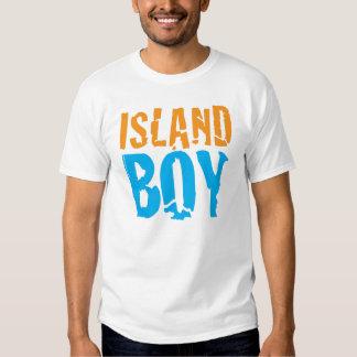 Camiseta del muchacho de la isla remeras