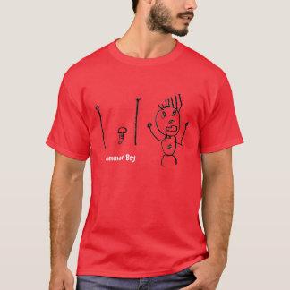 Camiseta del muchacho del batería