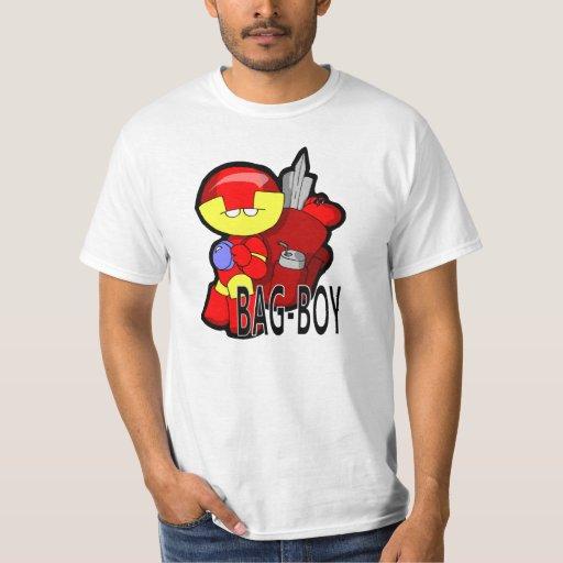 Camiseta del muchacho del bolso camisas