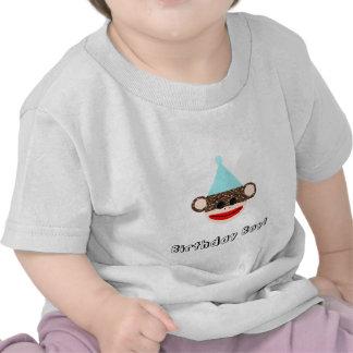 Camiseta del muchacho del cumpleaños del mono del