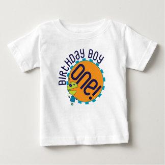 Camiseta del muchacho del cumpleaños del robot playeras