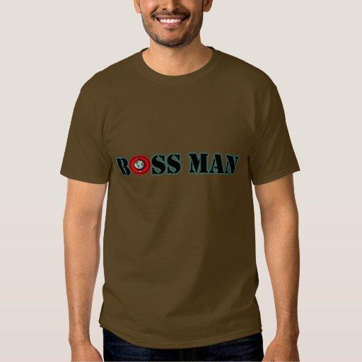 Camiseta del mundo del hombre de Boss Poleras