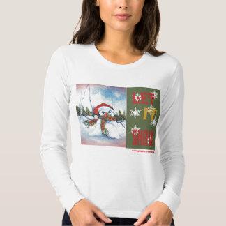 Camiseta del muñeco de nieve camisas