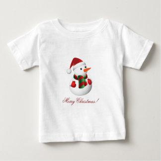 Camiseta del muñeco de nieve del navidad