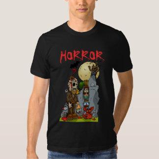 Camiseta del mural del horror poleras