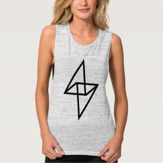 Camiseta del músculo de las mujeres de acero de playera de tirantes anchos