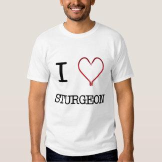 Camiseta del músculo del esturión I [del corazón] Remeras