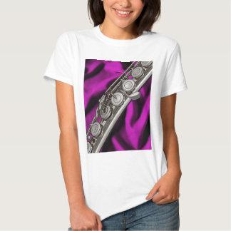 Camiseta del músico de la flauta o del flautista camisas