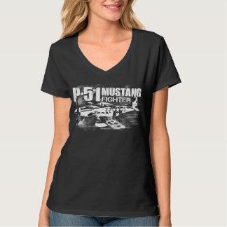 Camiseta del mustango P-51 Poleras
