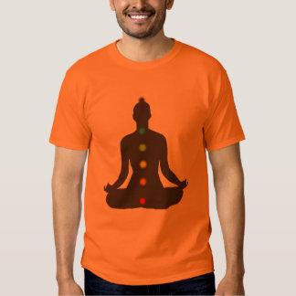 Camiseta del naranja de la meditación de poleras