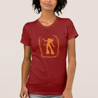 Camiseta del naranja del polluelo del Hippie Playeras