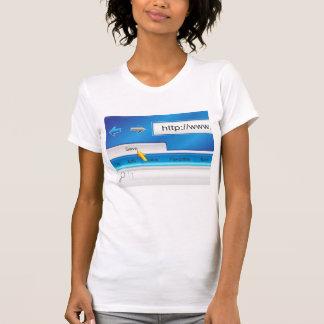 Camiseta del navegador del Web page