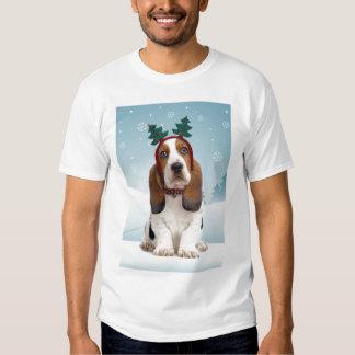 Camiseta del navidad de Basset Hound Playera