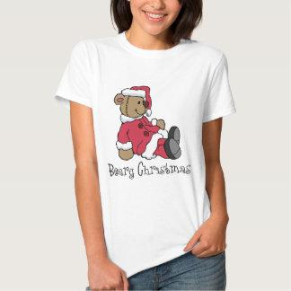 Camiseta del navidad de Beary Playeras
