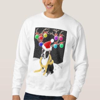 Camiseta del navidad de Boston Terrier Sudadera Con Capucha
