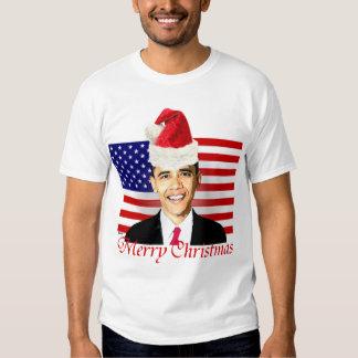 Camiseta del navidad de Obama Polera