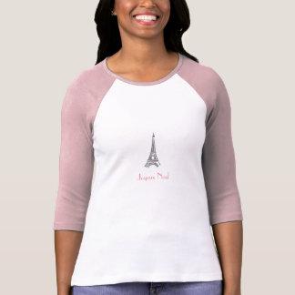 Camiseta del navidad de París de la torre Eiffel