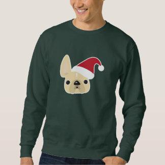 Camiseta del navidad del dogo francés suéter