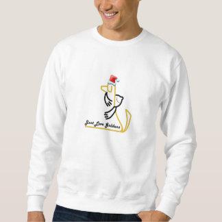 Camiseta del navidad del golden retriever sudadera con capucha