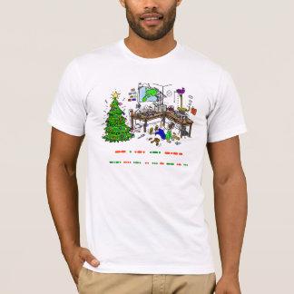Camiseta del navidad del operador del código Morse