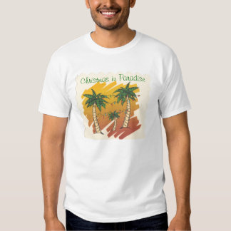 Camiseta del navidad del paraíso playera
