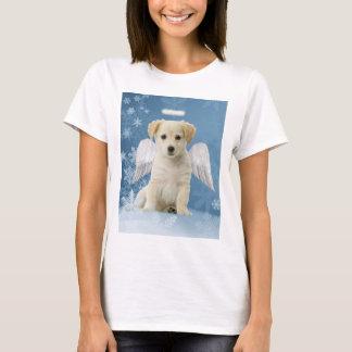 Camiseta del navidad del perrito del ángel