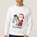 Camiseta del navidad Santa y del muñeco de nieve Jersey